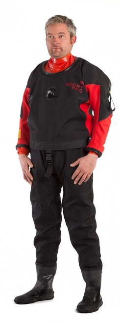 Trilaminate drysuits manufactured by Azdry used by ScubaQuest