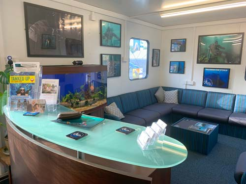 ScubaQuest Reception area