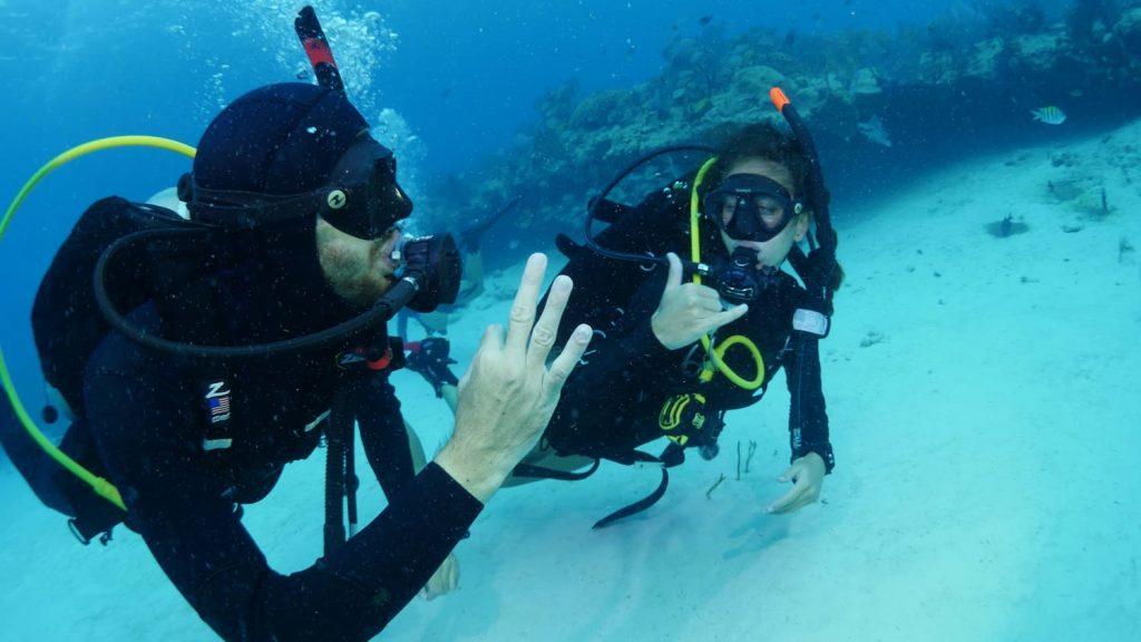 Scuba Divers OK Signal