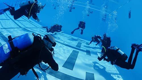 Pool Scuba Divers
