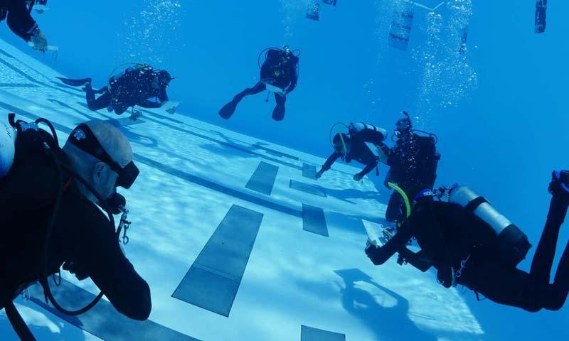 Scuba Divers in Pool