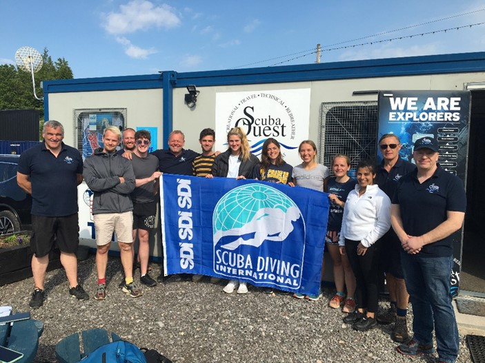 The second week of Bristol University medical students after their open water diving course